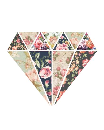 Floral Diamond 8x10